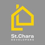 st chara - logo - white text